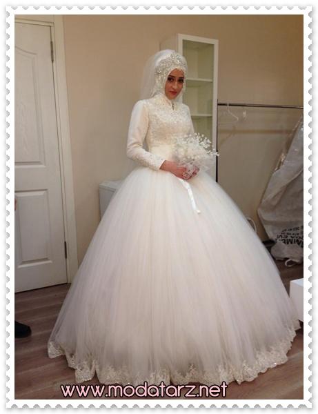 2015 – 2016 Tesettür Prenses Gelinlik Modelleri – www