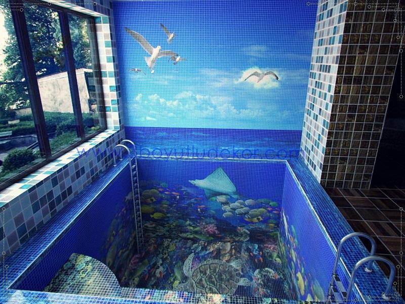 3 Boyutlu Havuz Kaplamaları ile havuzunuz akvaryum