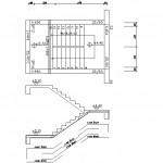 40 adet autocad dwg merdiven detayları çizimi