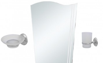 6 Parça Krom Banyo Ayna Seti 875