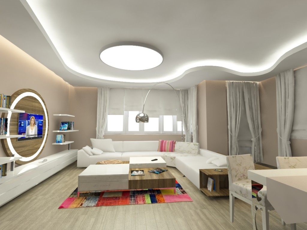 A.T. Evi Salon Tasarımı