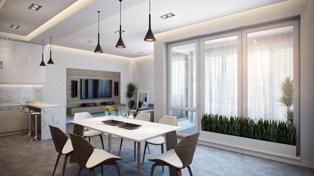 Alman ev tasarımına örnek şık bir apartman dairesi