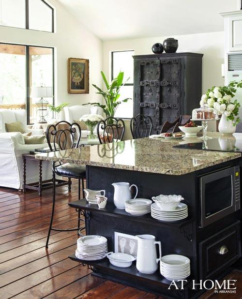 Amerikan Mutfaklı Salon Dekorasyonu
