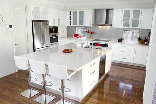 beyaz ada mutfak modeli