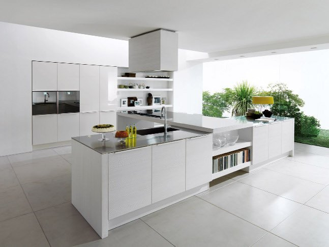 Beyaz Mutfak Modelleri 2015