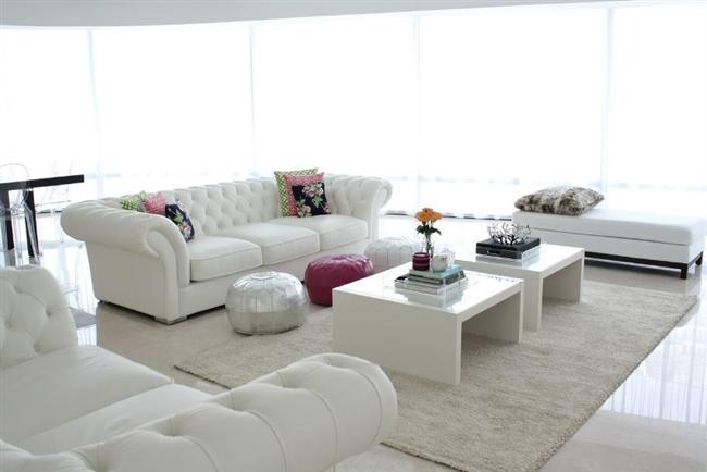 beyaz oturma odası modeli