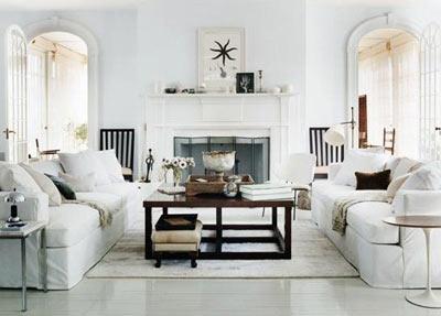 Beyaz Salon Dekorasyon Örnekleri