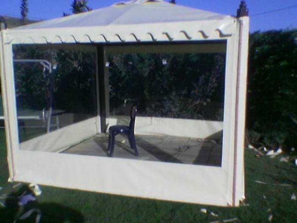 Branda Evi Tente, Tente Sistemleri, Şeffaf Kapama Sistemleri