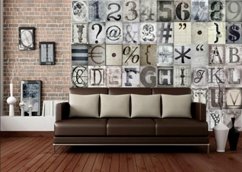 çok şık tipografik dekorasyon modelleri 2015