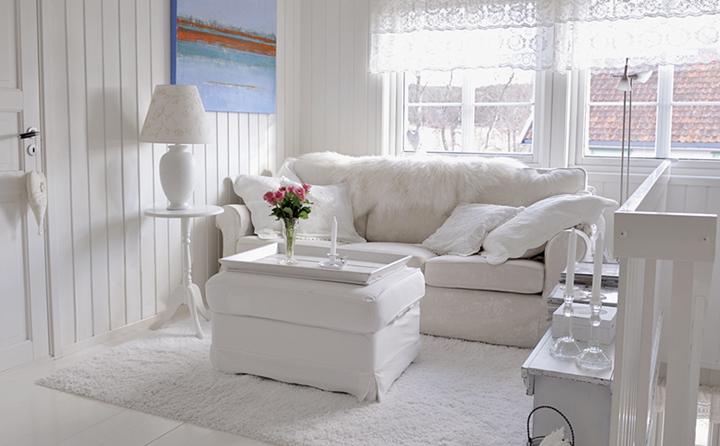 dekorasyonda beyaz etkisi
