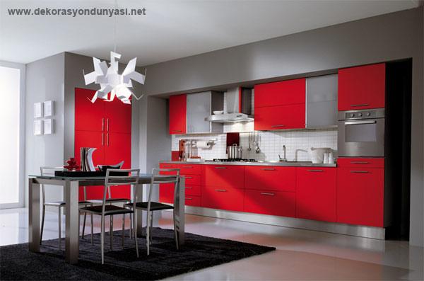 Dekorasyonda Kırmızı Rengi