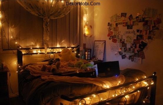DekorHobi » 48 Romantik Yatak Odası Aydınlatma Fikirleri