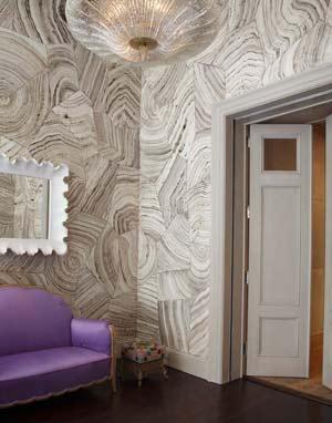 Desenli Duvar Kağıdı Dekorasyonu