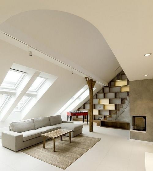 Dubleks Ev Çatı Katı Dekorasyonu » Dekorasyon Modası