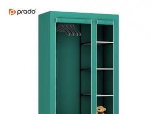 Elit Prado Yeşil Yandan Raflı Yüksek Bez Dolap