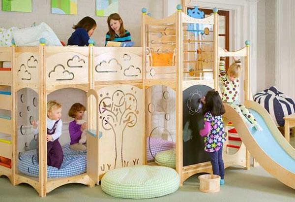 En eğlenceli çocuk odaları