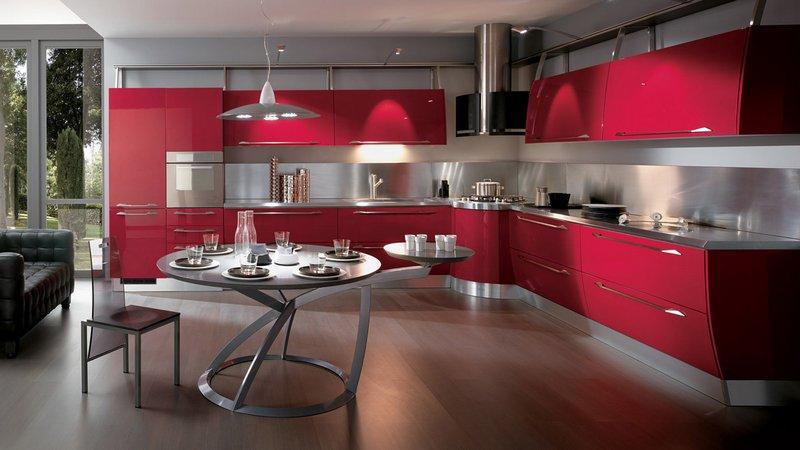En Güzel 2015 Renkli Ankastre Mutfak Dolabı Modelleri