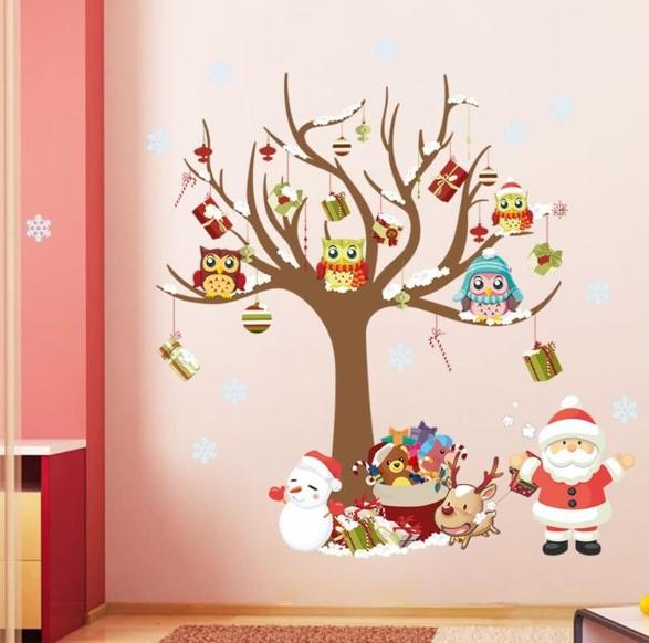 en güzel yılbaşı duvar sticker tasarımları