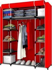 En Ucuz Prado Easy Parts Çift Yandan Raflı Bez Dolap Kırmızı