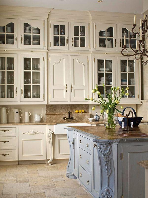 Fransız Country Tarzı Mutfak Dekorasyonları