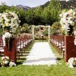 Gelin Yolu kır düğünü Dekoru Wedding Aisle (18)