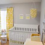 Gri, sarı, beyaz Bebek Odası!