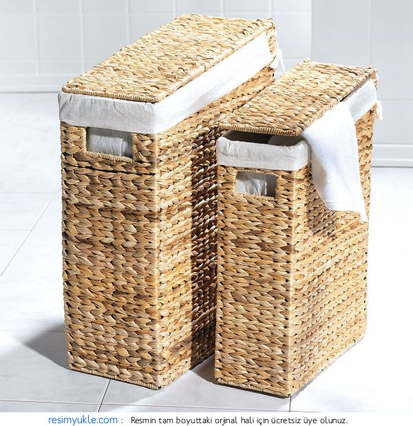 Hasır Banyo Çamaşır Sepeti Modelleri (19)