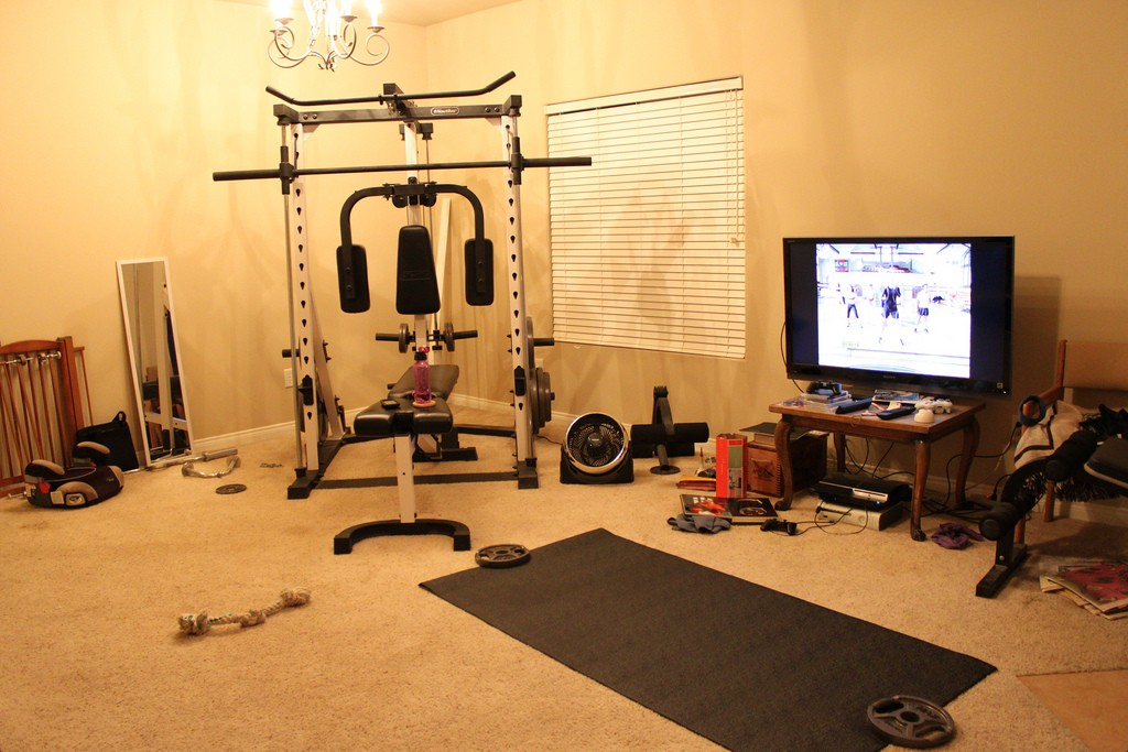 Home Gym Exercise Fitness Room Design Ideas