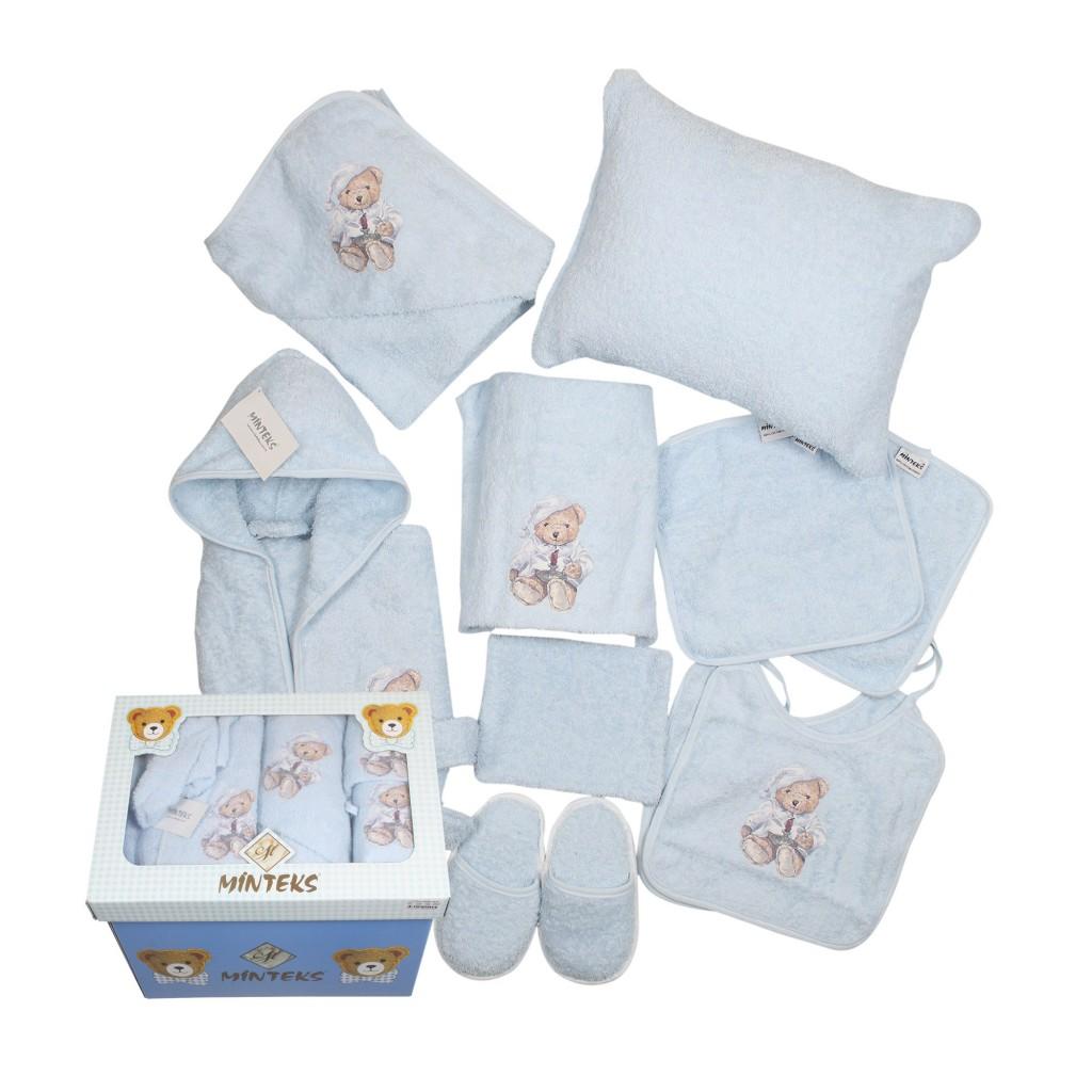 İndirimli Bebek Bornoz ve Havlu Takımı (10 parça), Fiyatı: 64