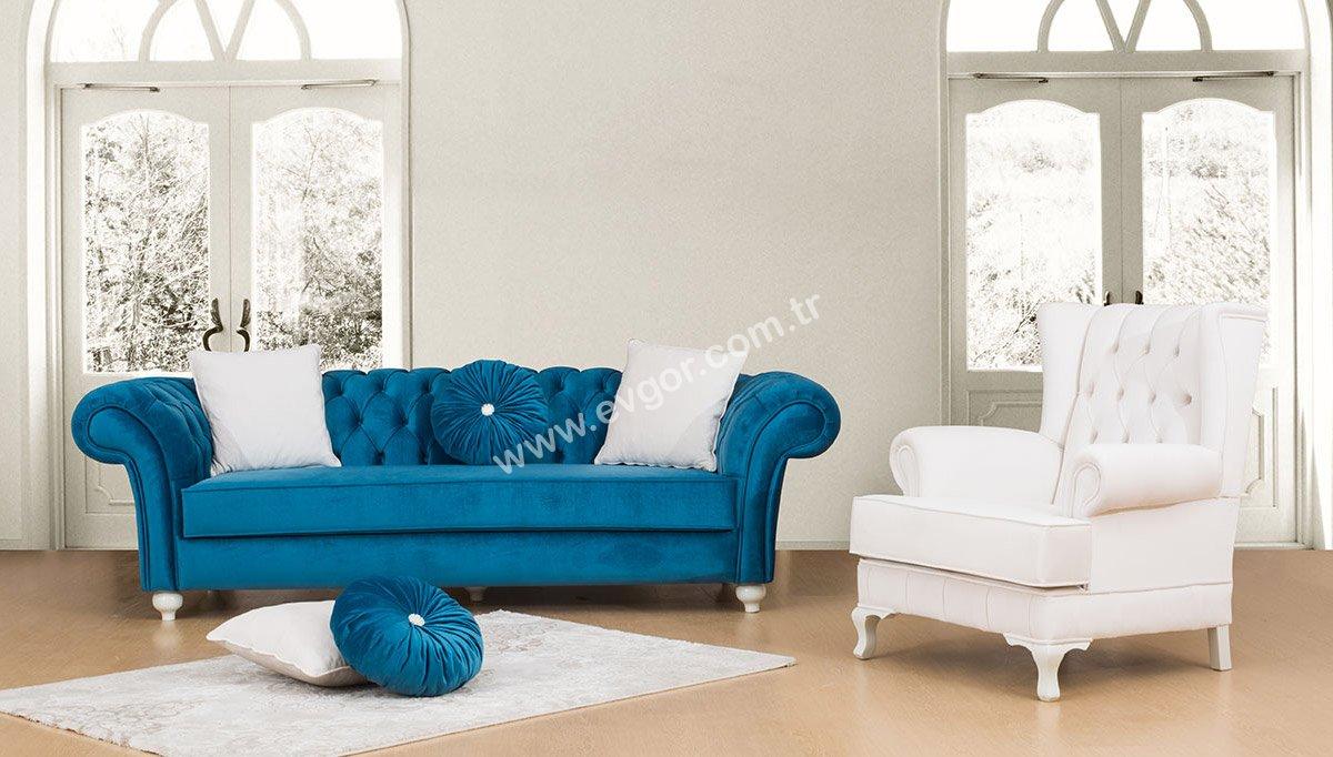 Modern beyaz koltuk tak mlar - Gallery Of Chester Koltuk Takimi