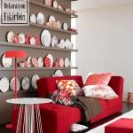 Kırmızı Renkli Ev Dekorasyonu