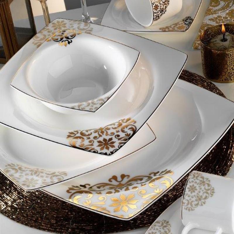 Kütahya Porselen Fileli Kare Bone 83 Parça 60105 Desenli
