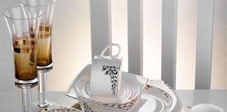 Kütahya Porselen Fileli Kare Bone 83 Parça 60106 Desenli