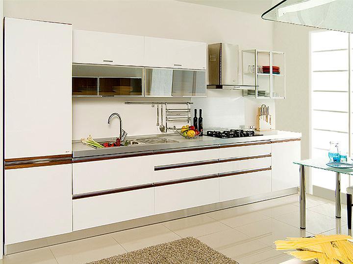 Lake beyaz mutfak dolapları