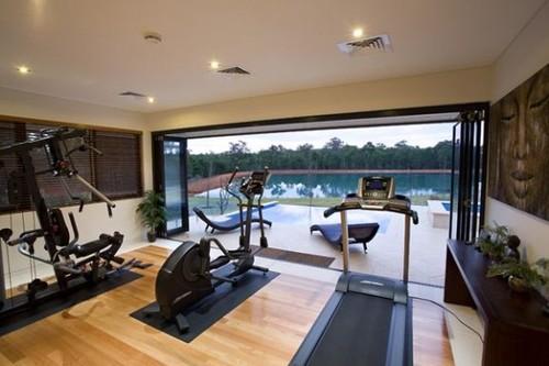 lüks evin ayrı spor salonu tasarımı