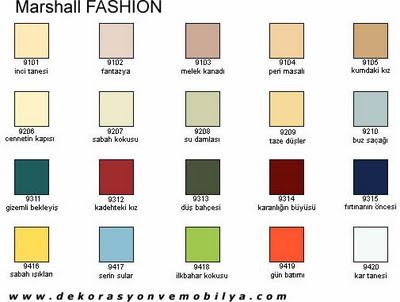 Marshall dış cephe boya renkleri 2016