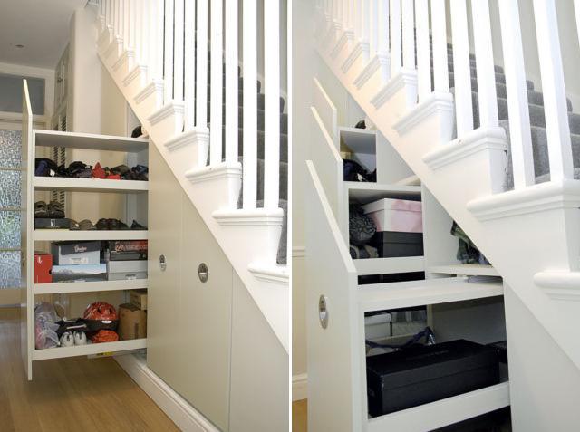 Merdiven altları için yaratıcı fikirler