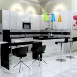Modası Geçmeyen Siyah Beyaz Mutfak Dekorasyonu