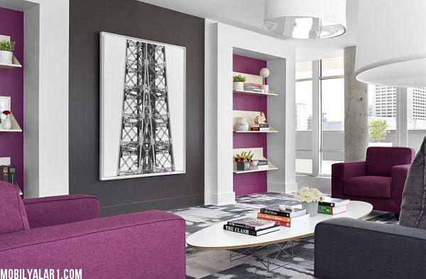Mor Renkli Odalar