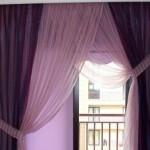 mor yatak odası perde
