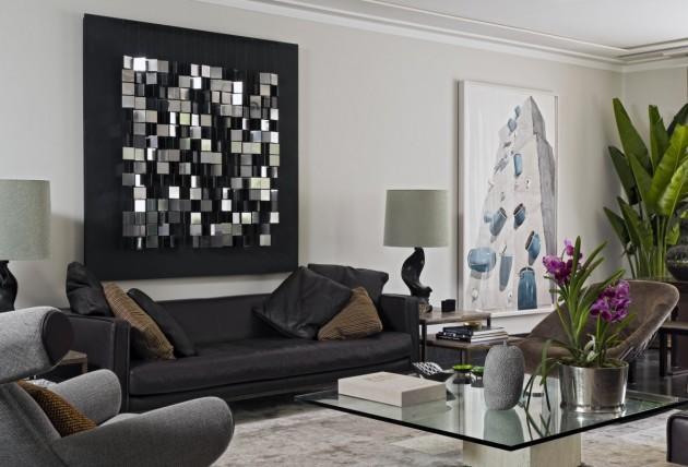 muhteşem siyah ve beyaz ev dekorasyonu görselleri