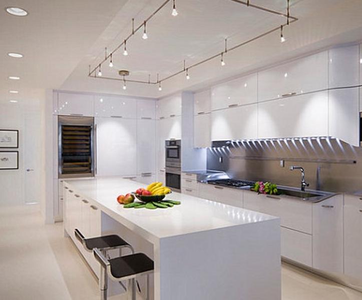 mutfak için modern asma tavan modeli 2014