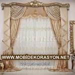 Oturma odaları için perde modelleri