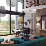 Paslı Borular ile Ev Tasarımı, Çatı dekorasyonu, Ahşap