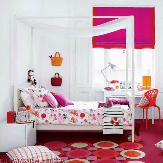 Renkli ve Şirin Çocuk Odası Tasarımları