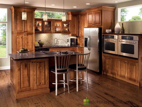Rustik Mutfak Dolabı Modelleri