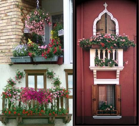 Pencere ve balkonlarda i ek dekorasyonu leylara her for Salon cicekleri yapay