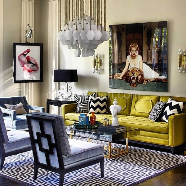 Şık son moda Hardal sarısı dekorasyon renk örnekleri