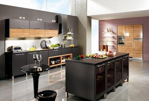 Siyah ankastre mutfak modelleri