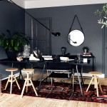 Siyah duvarlar ile 10 ev dekorasyon örneği